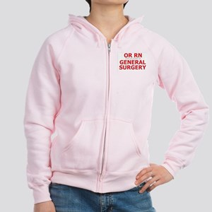 RN General Surgery Women's Zip Hoodie